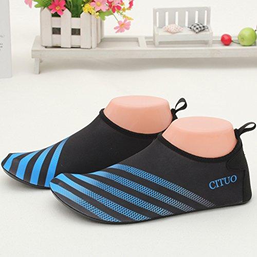 SENFI leichte Quick-Dry Wasser Schuhe für Wassersport Strand Pool Camp (Männer, Frauen, Kinder) S.blau