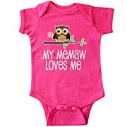 inktastic My Memaw Loves Me Grandkids Infant Creeper 6 Months Hot Pink 2d667