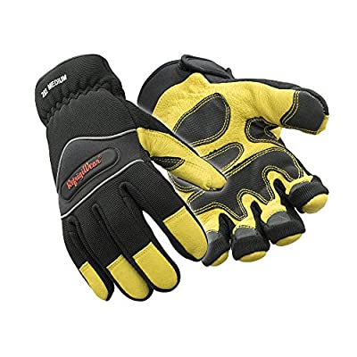 RefrigiWear Insulated Tricot Lined High Dexterity Gloves, Gold/Black