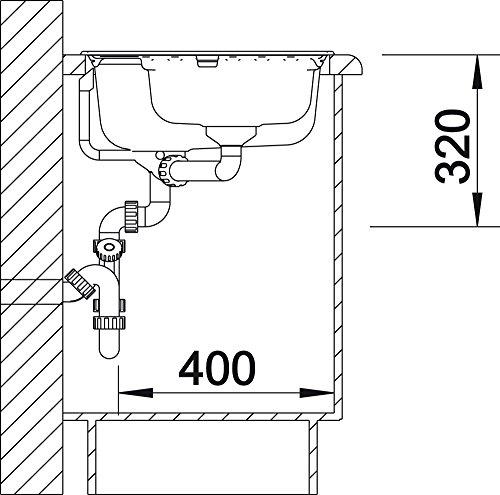 blanco trisona 6 s k chensp le granitsp le aus silgranit puradur becken rechts 1 st ck. Black Bedroom Furniture Sets. Home Design Ideas