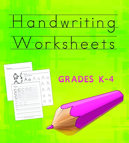 Handwriting Worksheets CD | + 500 Top Quality Cursive Manuscript & D'Nealian Activities | Practice Workbooks to Improve your Handwriting | The Best Resource for Teachers and Students | Grade: K-4