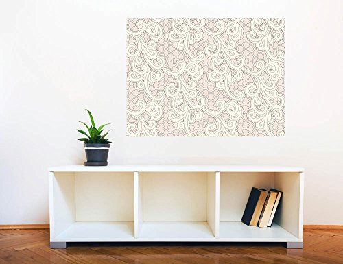 Removable Wall Sticker Wall Mural Lace Style Seamless Pattern Creative Window View Wall Decor