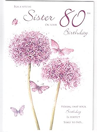 Happy birthday to a special sister on your 80th birthday card happy birthday to a special sister on your 80th birthday card bookmarktalkfo Gallery