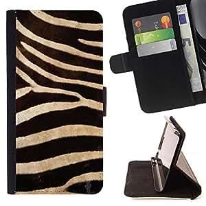 Momo Phone Case / Flip Funda de Cuero Case Cover - Modelo de la cebra Wallpaper Dise?o Textil - Samsung Galaxy S6 Edge Plus / S6 Edge+ G928