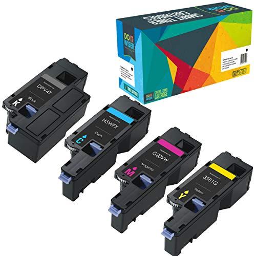 Do it Wiser Compatible for Dell E525W E525 525W Toner Cartridges | 593-BBJX, 593-BBJU, 593-BBJV 593-BBJW (Black, Cyan, Magenta, Yellow) 4 Pack