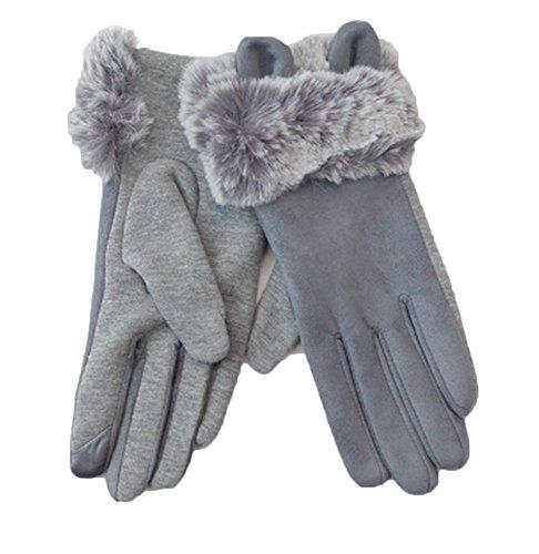 週末ベアリング描写(ブリランテ) BRILLANTE 手袋 スマホ タッチパネル対応 レディース 防寒 カジュアル 342