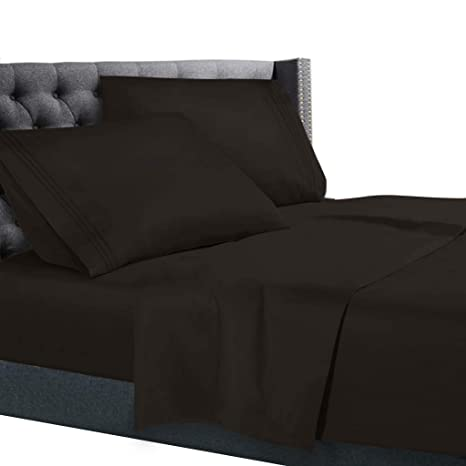 Amazon Com Cal King Size Bed Sheets Set Brown Chocolate Bedding