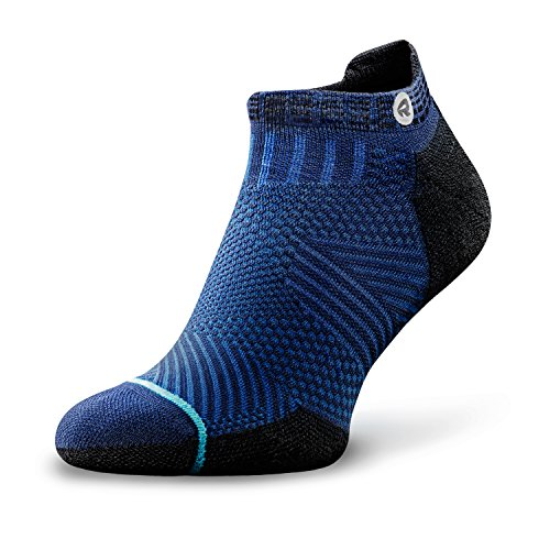 ROCKAY Accelerate Running Socks for Men and Women Organic Merino Wool & Anti-blister & Compression Arch (1 Pair)