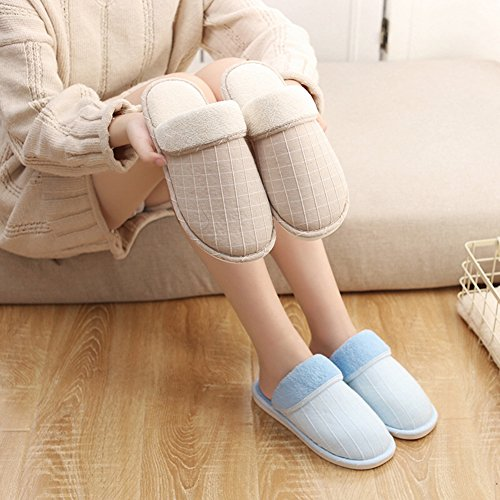 Anti Winter Slippers Bedroom Eagsouni Warm Indoor Slippers Fluffy Faux Plush Slip 1khaki HIqqdwWnT
