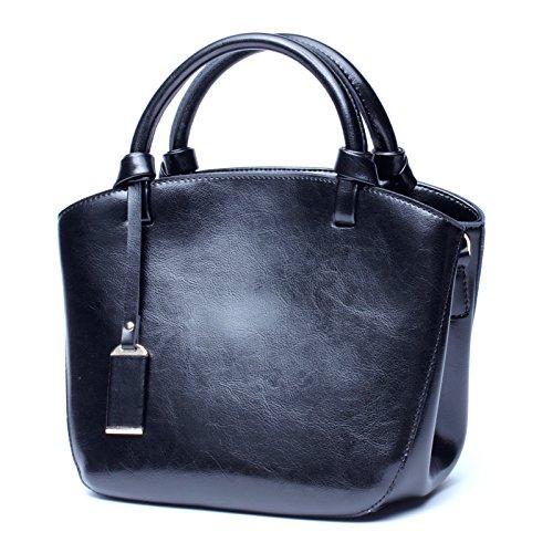 Damen Handtaschen Sommer Lederhandtaschen Rindsleder Handtaschen Retro Vielseitige Mobile Messenger Bag   (Farbe   schwarz, Größe   M) B07H27SM2W Rucksackhandtaschen Queensland