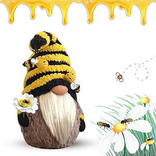 Bumble Bee Gnome Scandinavian Tomte Nisse Dwarf Swedish Figurines Honey Bee Farmhouse Bumble Bee for Gifts Birthday Present