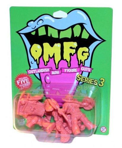 Designer Vinyl Toy Figure (OMFG Series 3 Set Of 5 Designer Vinyl Mini Figures October Toys)