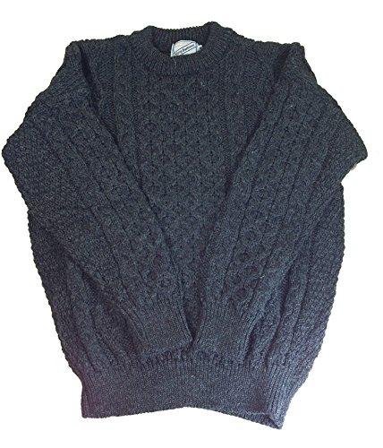 St. Patrick's Day Aran Sweater 100% Wool Irish Made Unisex by Kerry Woollen Mills