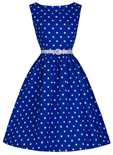 Lindy-Bop-Classy-Vintage-Audrey-Hepburn-Style-1950s-Rockabilly-Swing-Evening-Dress-6XL-Blue