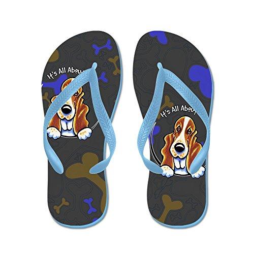 Cafepress Basset Hound Iaam - Flip Flops, Roliga Rem Sandaler, Strand Sandaler Caribbean Blue