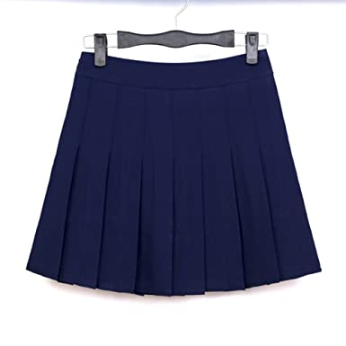 Amazon.com: MIXMAX Women High Waist Pleated Mini Tennis Skirt ...