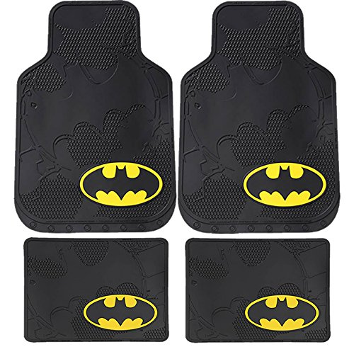 DC+Comics Products : 4pc New Dc Comic Batman Front & Rear Utility Rubber Floor Mats