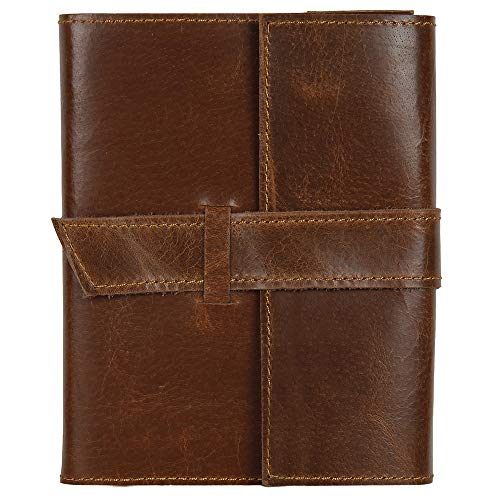 Genuine Leather Handmade Journal to Write in Notebook Refillable Diary for Men Women Writers Artist Poet Gift for Him Her