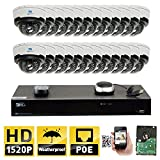 Product review for GW Security 32CH H.265 8MP 4K NVR 4MP (2592 x 1520) Plug & Play POE IP Camera System, 24pcs 4MP 1520p 2.8-12mm Varifocal Zoom Weatherproof Dome Security Cameras, Pre-Installed 8TB HDD and More