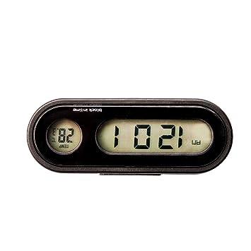 Amazon.es: Reloj Auto del vehículo Auto Backlight Vute Termómetro Reloj Hora Coche Reloj electrónico