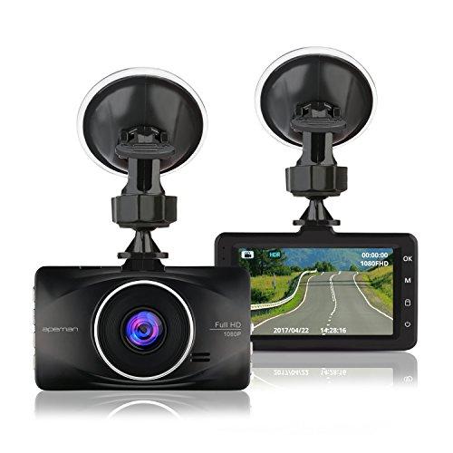 apeman dash cam full hd 1080p car video recorder with 3. Black Bedroom Furniture Sets. Home Design Ideas