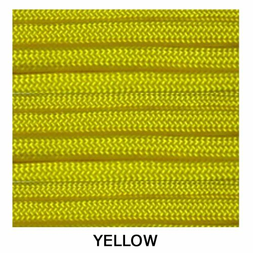 Yellow 25' Paracord Hero 10' 20' 50' 100' Hanks Parachute 550 Cord Type III 7 Strand Paracord - Largest Paracord Selection