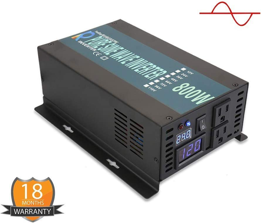 WZRELB 3000W 12V 120V DC to AC Pure Sine Wave Solar Power Inverter with Remote Control Switch