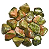 Hypnotic Gems Materials: 1lb Bulk Tumbled Unakite Stones from Africa - Natural Polished Gemstone Supplies for Wicca, Reiki, and Energy Crystal HealingWholesale Lot