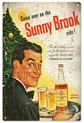 Sunny Brook Distillery Holiday Kentucky Bourbon Bar Reproduction Sign