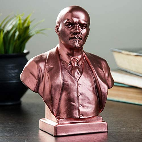 danila-souvenirs Soviet Russian USSR Leader Vladimir Lenin Stone Bust Statue Sculpture 4.1 Black