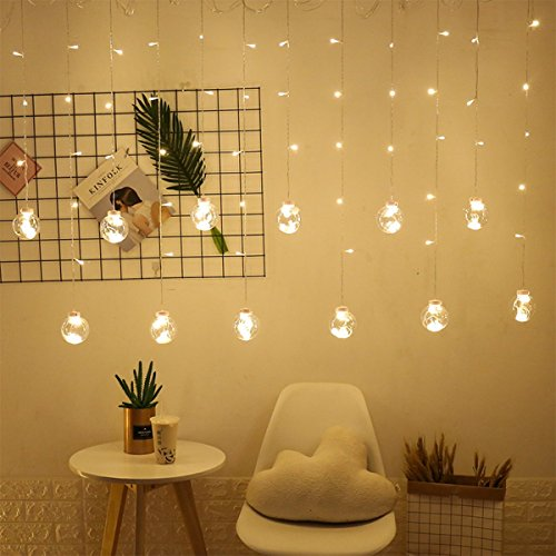 Chaîne Lumineuse LED Souhaitant Boule Rideau Lumière Fille Coeur ...