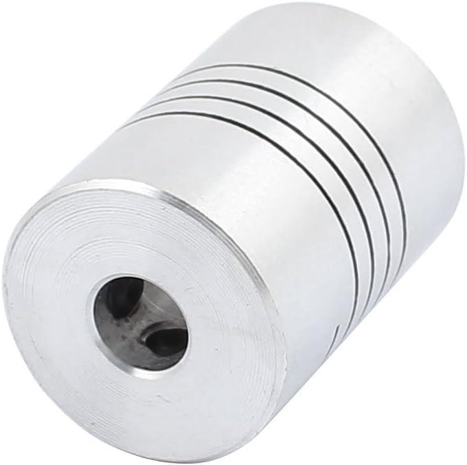 sourcing map 3mm to 3mm Shaft Coupling 25mm Length 18mm Diameter Stepper Motor Coupler Aluminum Alloy Joint Connector for 3D Printer CNC Machine DIY Encoder