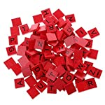 Shaoge 100Pcs Wooden Colourful Scrabble Tiles Mix Letters Varnished Alphabet Scrabbles