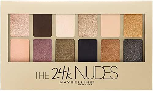 Maybelline New York The 24K Nudes Eyeshadow Palette, 0.34 Ounce