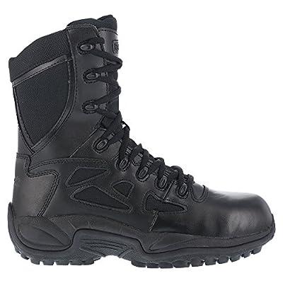 "Reebok Women's 8"" Side-Zip Rapid Response Tactical Boot Round Toe - Rb888"