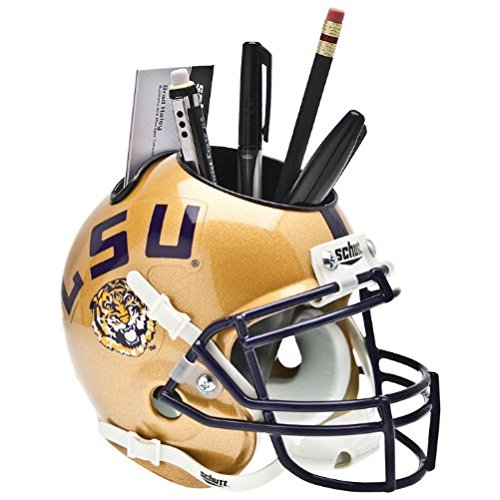 Helmet Desk Caddy (NCAA LSU Tigers Helmet Desk Caddy, Gold)