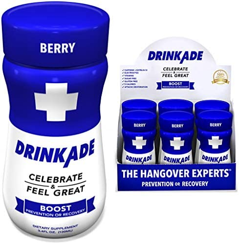 DrinkAde Hangover Prevention Electrolytes Hydration
