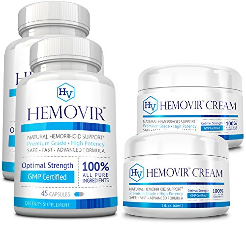 Hemovir - 2 Month Supply - 2 Bottles & 2 Creams by Approved Science