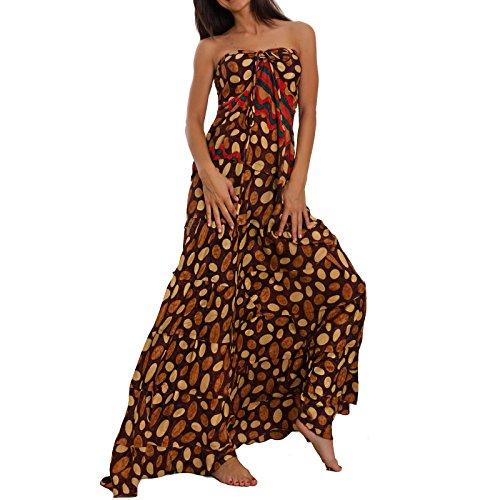 Toocool Damen Trägerloser Kleid Fantasia 1 One Size Braun YVabiUNsK ...