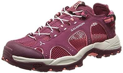 Salomon Techamphibian 3 - Sandalias deportivas para mujer, color rojo (bordeaux/carmine/melon bloom), talla 36 2/3