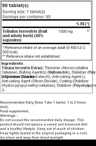 Okygen Sports Tribulus - 90 Tabletas: Amazon.es: Salud y cuidado personal