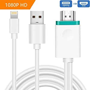Lingthing to HDMI Digital AV, wechip Video Adapter Dock to HDMI HD TV HDTV AV Cable Adapter for iPad Air iPhone 7 7 Plus iPhone 6 6 Plus iPad Mini