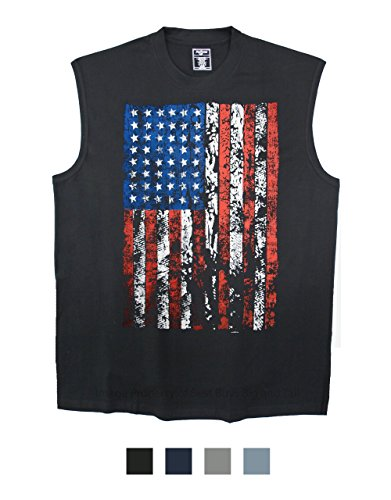Foxfire Printed Muscle Tee BLACK 3XL LARGE AMERICAN FLAG #959G