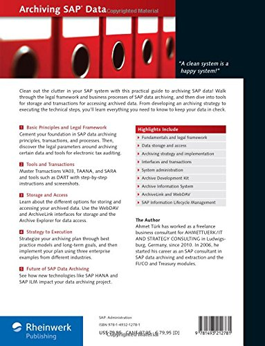 Amazon com: Archiving SAP Data: Practical Guide to SAP EIM