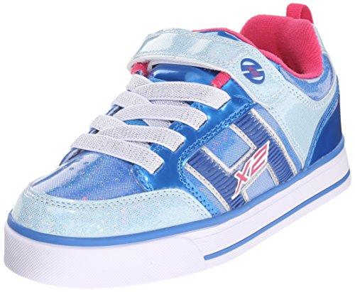 Heelys Bolt Plus X2 Sneaker (Little Kid/Big Kid), Ice Blue/Silver/Pink, 2 M US Little Kid