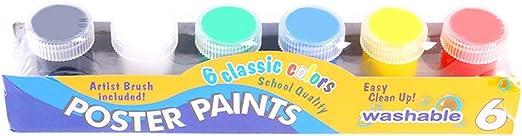 Yinuneronsty 20ml 12 Color Children Finger Paint Washable Gouache Paint,Yinuneronsty