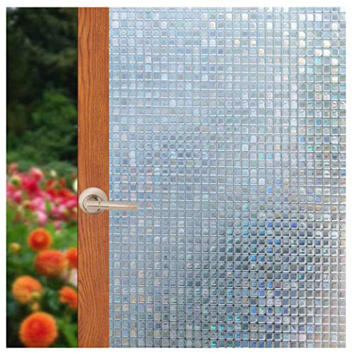 Arthome 3D Window Films Privacy Film Static Decoration Film Self-Adhesive Heat Control UV Blocking for Home Kitchen Office 17.7in. by 100in. (45cm X ()