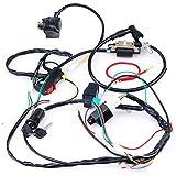 amazon dirt bike wiring harnesses electrical automotive 3 Pin Wire Harness cisno plete electrics cdi coil wiring loom harness kick for 50cc 110cc 125cc atv dirt bike