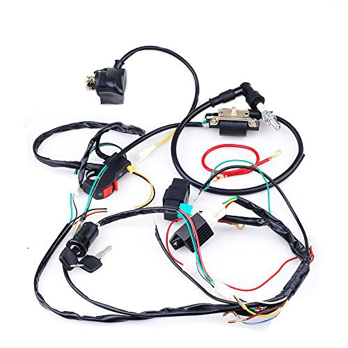 Parts Sunl Atv (CISNO Complete Electrics CDI Coil Wiring Loom Harness Kick for 50cc 110cc 125cc ATV Dirt Bike)