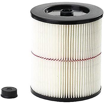 Craftsman 9-17816 General Purpose Red Stripe Vacuum Cartridge Filter, 8.5 Inches - White/Red